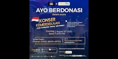 Peduli Pendidikan Jawa Barat, Unpaders.id Gelar Konser Virtual Bersama Sederet Artis dan Musisi Indonesia
