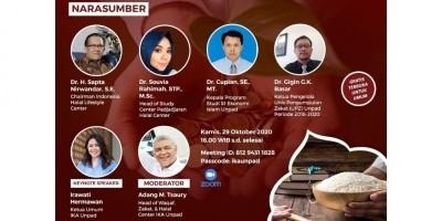 Webinar Peranan Alumni Unpad dalam Peningkatan Literasi Wakaf Zakat dan Jaminan Sosial Produk Hala di Masyarakat