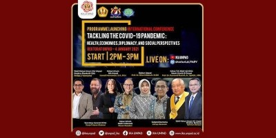 """Diluncurkan: """"International Conference: Tackling The Covid-19  Pandemic: Health, Economics, Diplomacy, and Social Perspectives"""""""